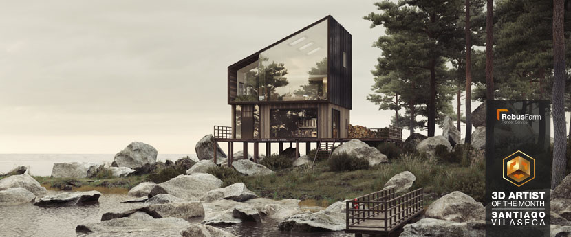 3D Lakeside Cabin